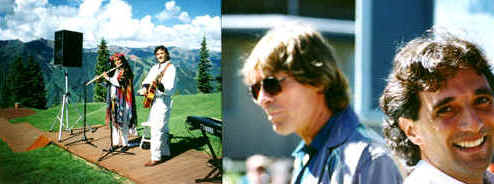 Anthony Raffa with John Denver - Windstar Aspen 1995